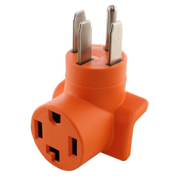 Range/Generator Outlet to 4-Prong Dryer Adapter and 4-Prong 14-50P Plug to 30 Amp 4-Prong Dryer 14-30R Adapter