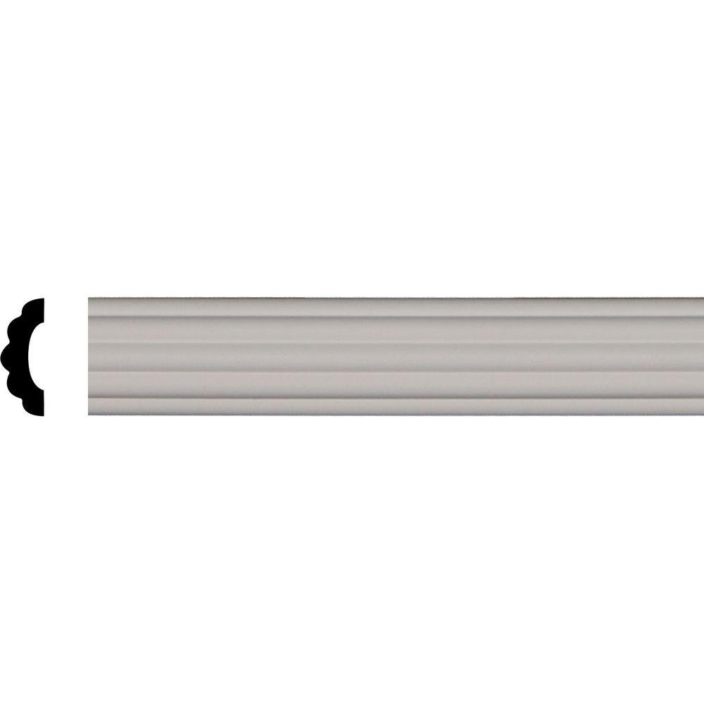 3/4 in. x 2-1/8 in. x 96-1/4 in. Polyurethane Reeded Panel