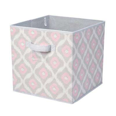 12 in. x 12 in. x 12 in. Collapsible Ikat Storage Cube