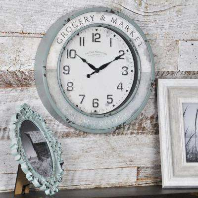 Vintage Grocery Wall Clock