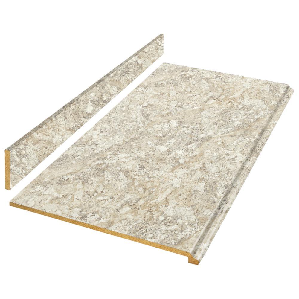 4 ft. Laminate Countertop Kit in Spring Carnival Granite with Valencia Edge