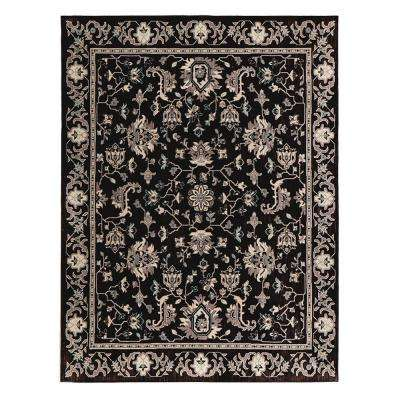 Jackson Black 4 ft. x 6 ft. Area Rug