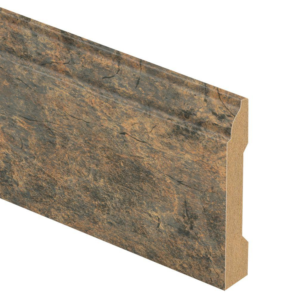 Zamma Canyon Slate Clay 9/16 in. Thick x 3-1/4 in. Wide x 94 in. Length Laminate Wall Base Molding
