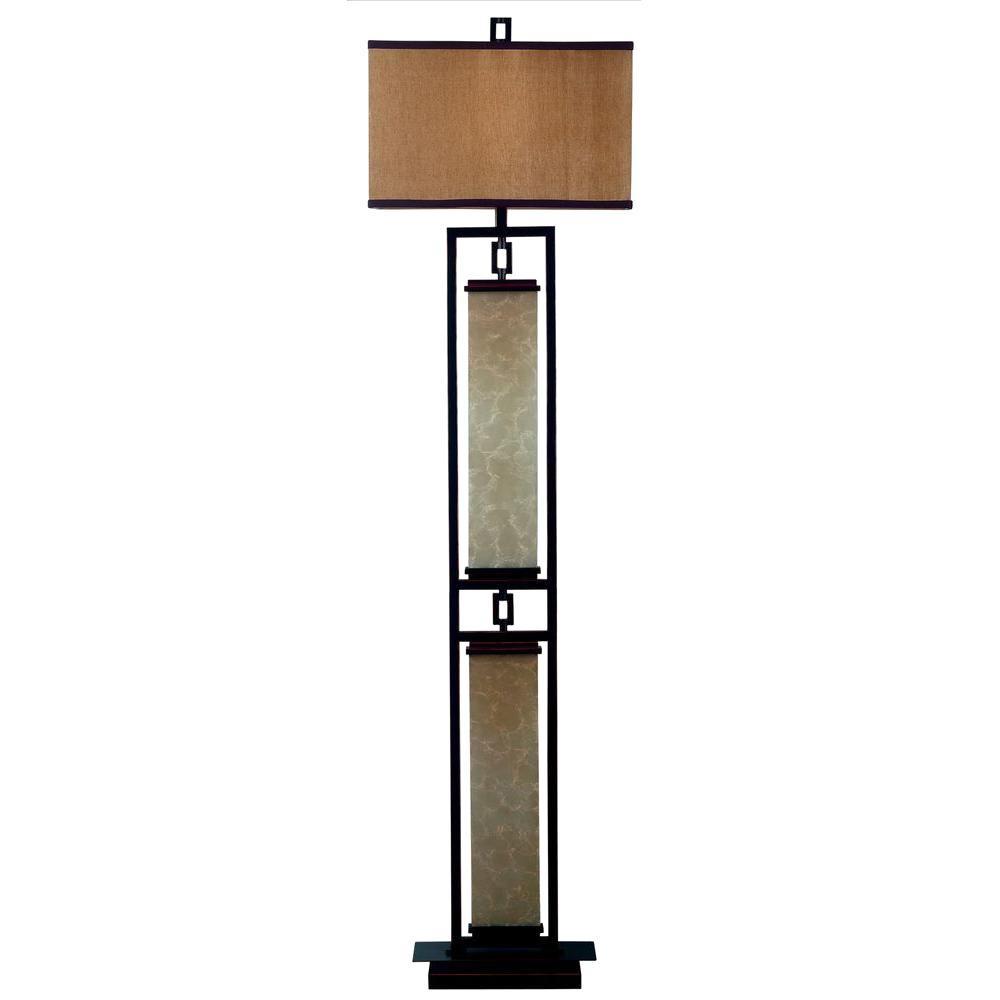 Kenroy Home Plateau 61 in. Oil-Rubbed Bronze Floor Lamp