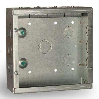 8 in. x 8 in. NEMA 1 Grand Slam Junction Box with Built-In STAB-IT Clamps with Knockouts