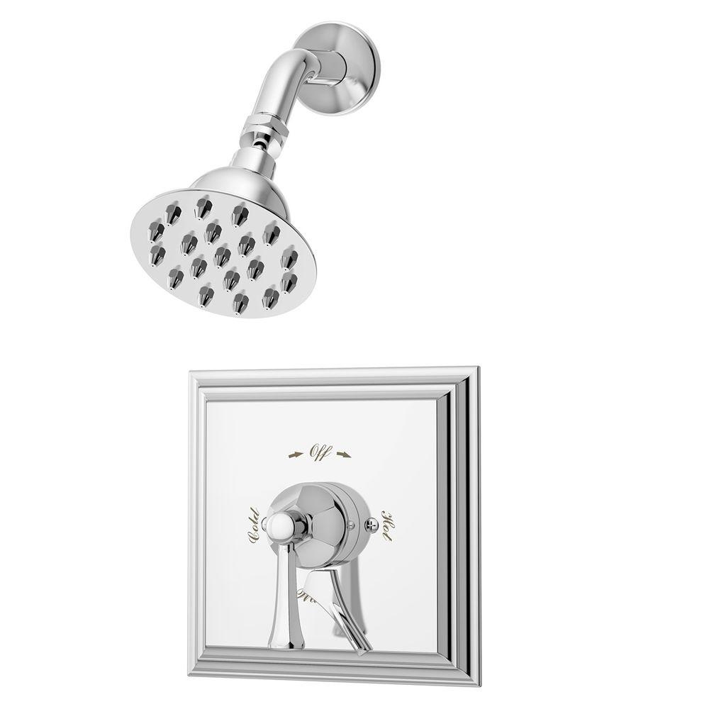 Symmons Canterbury Pressure Balanced Single Handle 1 Spray Tub And Shower Faucet In Chrome