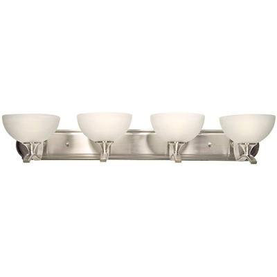 Rick 4-Light Satin Nickel Bath Vanity Lighting