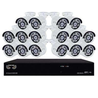 H.265 32-Channel 3TB Surveillance NVR with 16 x 2K (4.0MP) Cameras