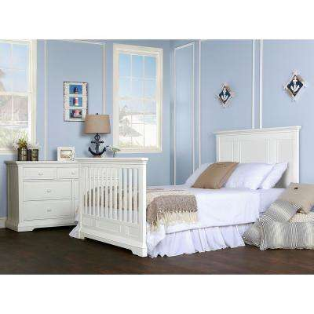 White Full Size Bed Rail