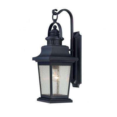 Tony 1-Light Slate Outdoor Wall Mount Lantern