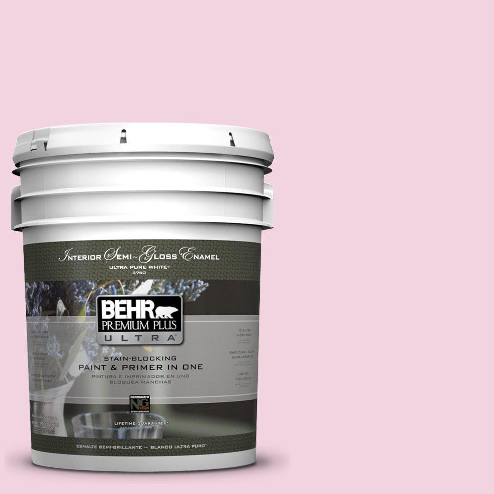 5 gal. #100A-3 Scented Valentine Semi-Gloss Enamel Interior Paint and Primer