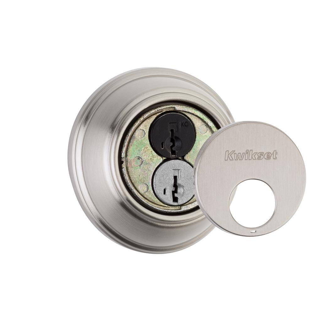 816 Series Satin Nickel Single Cylinder Key Control Deadbolt featuring SmartKey Security