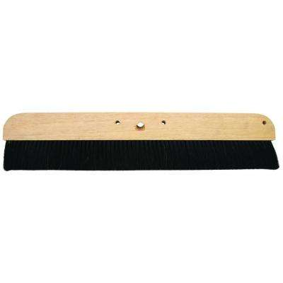 24 in. Concrete Finish Broom-Wood Block