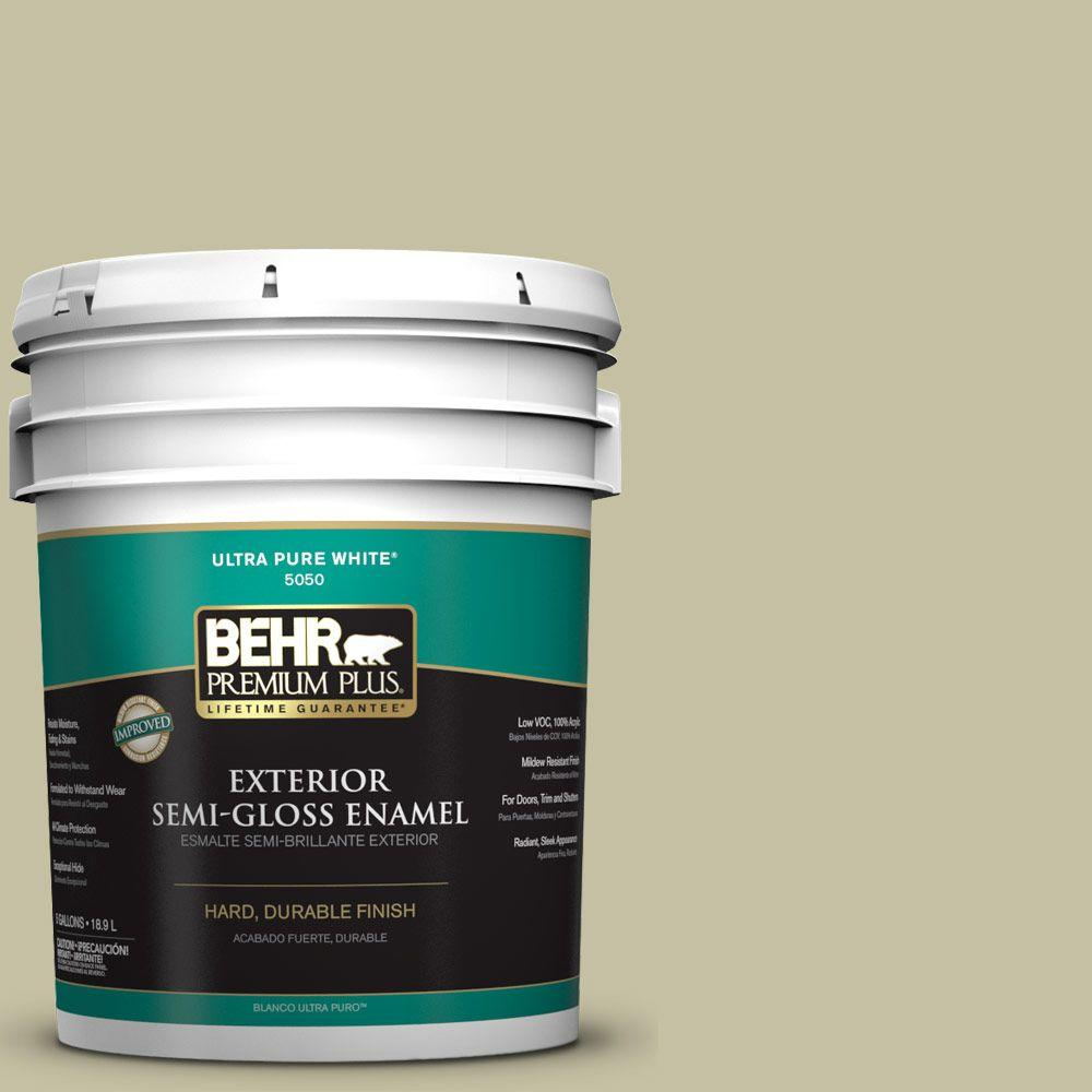 5-gal. #S350-3 Washed Olive Semi-Gloss Enamel Exterior Paint
