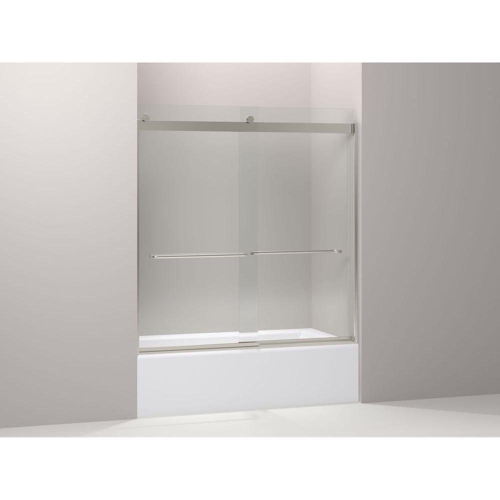 Kohler Levity 59 In X 62 In Semi Frameless Sliding Shower Door In Brushed Nickel K 706103 L Nx