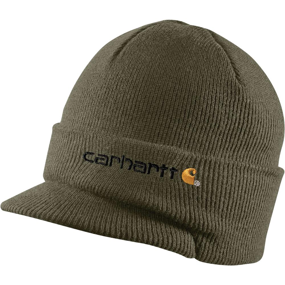905bac0c Carhartt Men's OFA Army Green Acrylic Knit Hat with Visor-A164-ARG ...