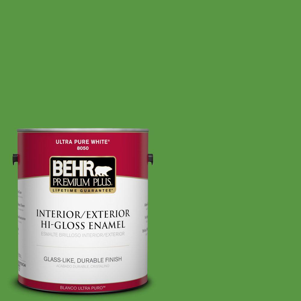 1-gal. #430B-7 Cress Green Hi-Gloss Enamel Interior/Exterior Paint