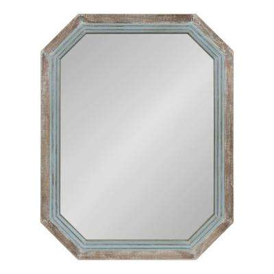 Palmer Octagon Blue Wall Mirror