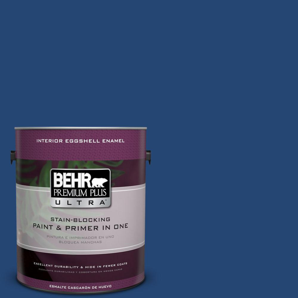 BEHR Premium Plus Ultra 1-gal. #S-H-580 Navy Blue Eggshell Enamel Interior Paint