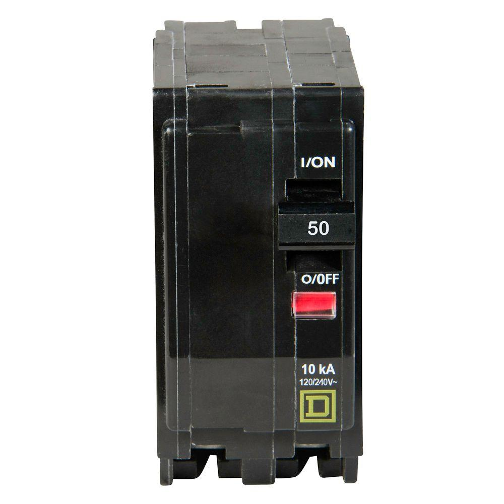 Square d qo 50 amp 2 pole circuit breaker qo250cp the home depot square d qo 50 amp 2 pole circuit breaker greentooth