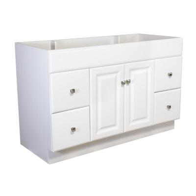 Wyndham 48 in. Unassembled 2-Door 4-Drawer Bath Vanity Cabinet Only, White