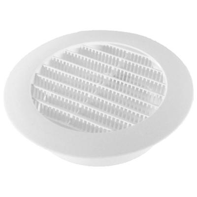 5 in. White Round Soffit Vent (4-Pack)