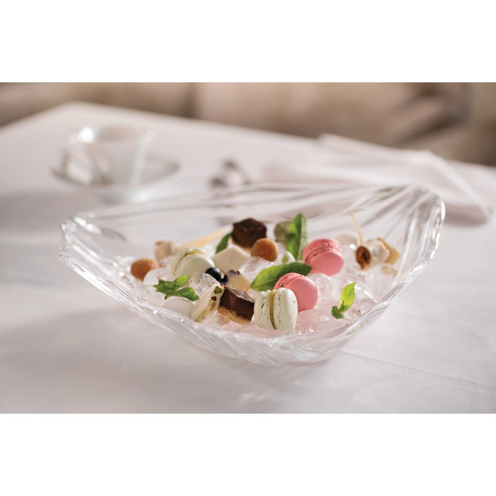 Nachtmann Jin Yu 12.5 in. Decorative Bowl in Clear