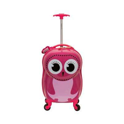 Rockland 17 in. Jr. Kids' My First Polycarbonate Hardside Spinner Luggage, Owl