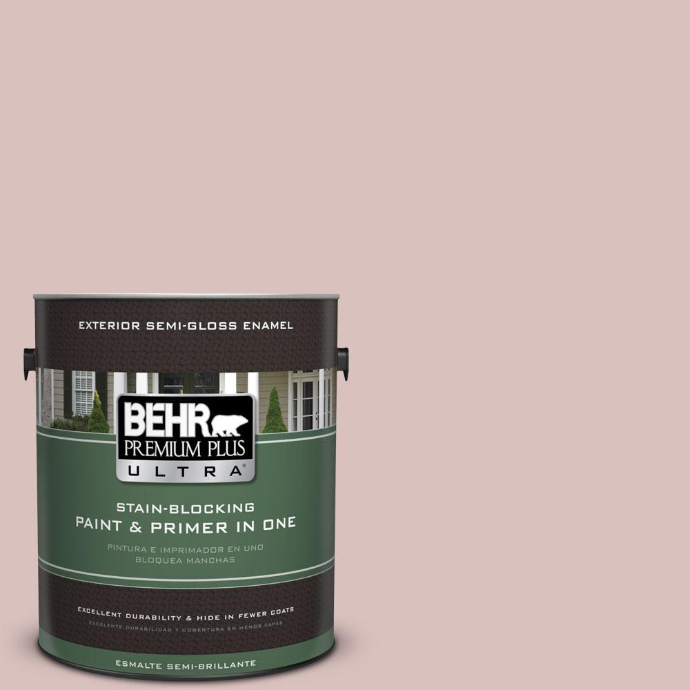 BEHR Premium Plus Ultra 1-gal. #PPU17-8 Peony Blush Semi-Gloss Enamel Exterior Paint