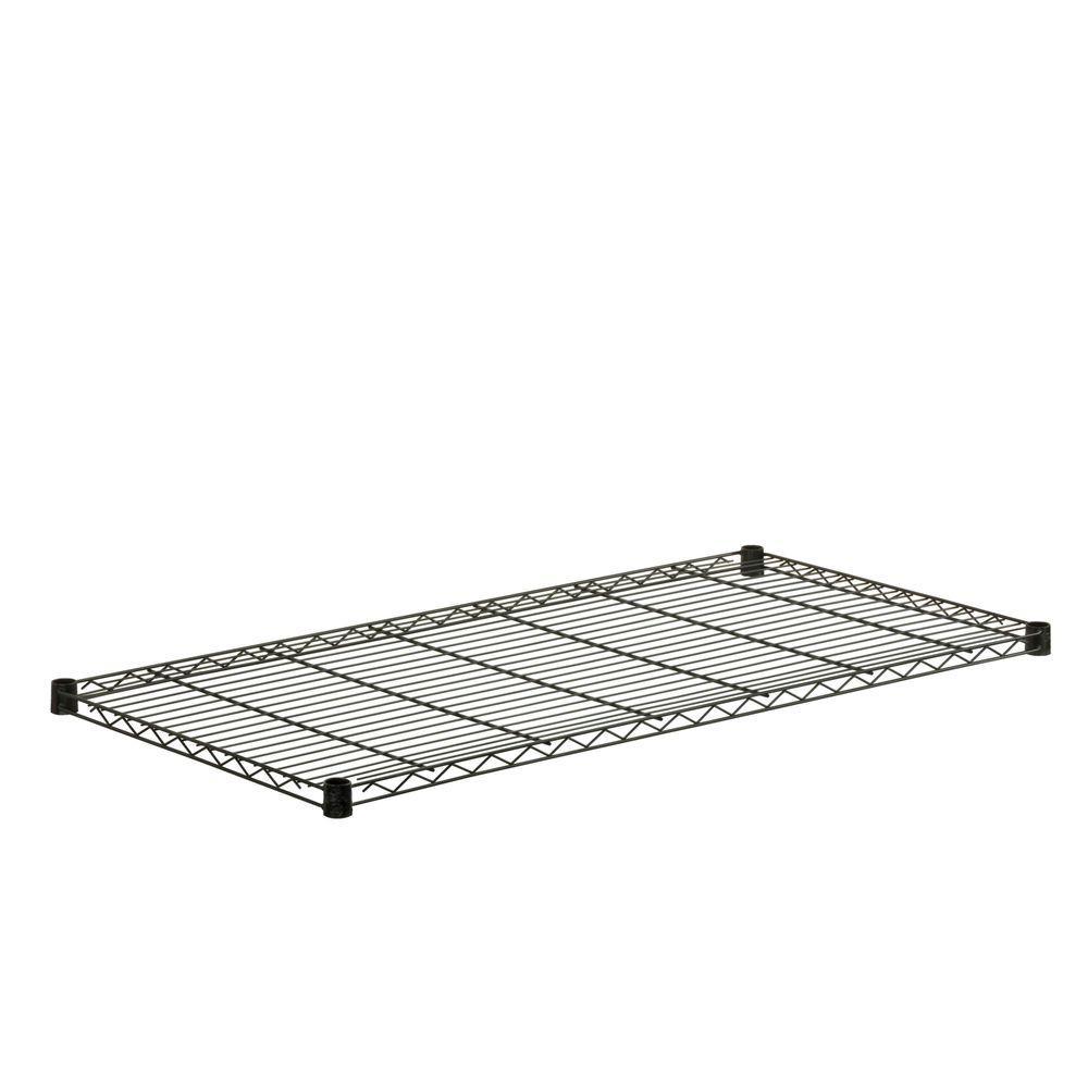 Honey-Can-Do 1 in. H x 48 in. W x 18 in. D 350 lb. Capacity Freestanding Steel Shelf in Black