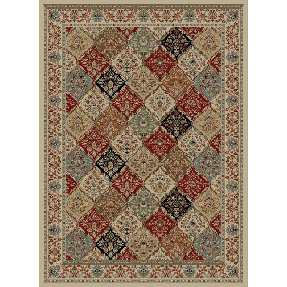 Concord Global Trading Ankara Bakhtiar Ivory 5 ft. 3 in. x 7 ft. 3 in. Area Rug