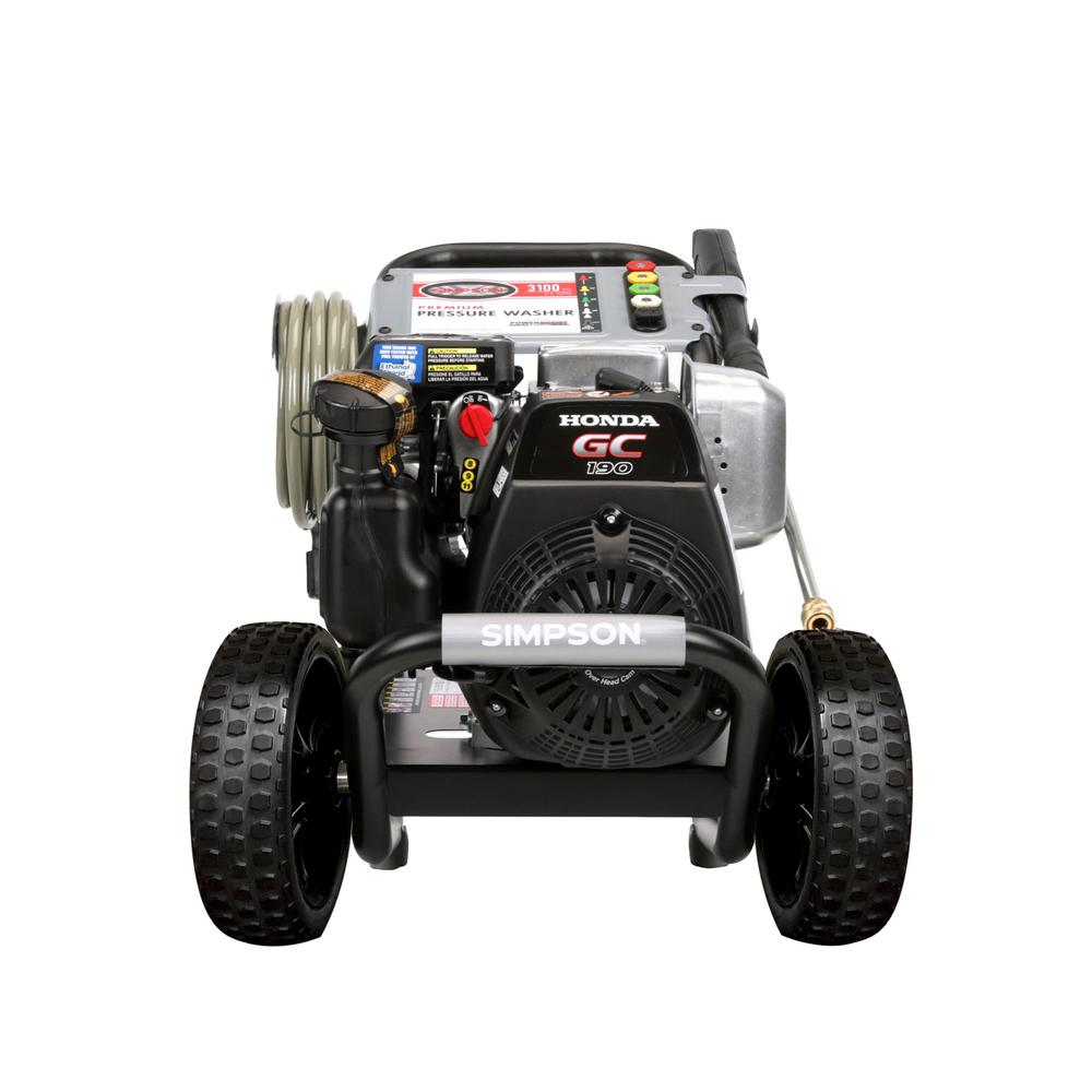 Simpson MegaShot 3,200 PSI 2.5 GPM Gas Pressure Washer Powered by Honda