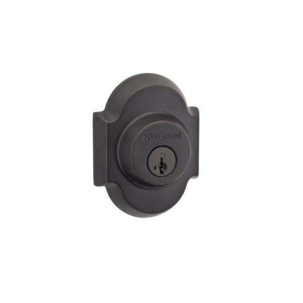 Austin Venetian Bronze Single Cylinder Deadbolt featuring SmartKey Security with Microban Antimicrobial Technology