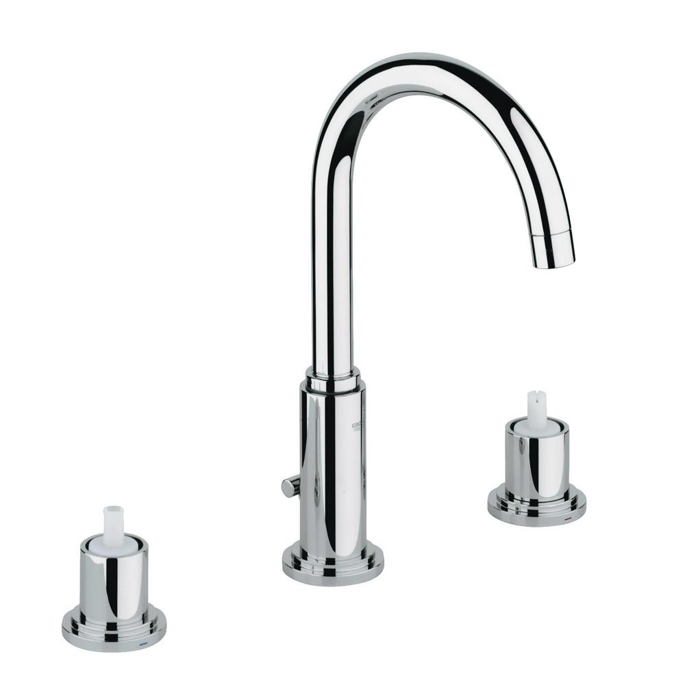 Atrio 8 in. Widespread 2-Handle 1.2 GPM Bathroom Faucet in StarLight