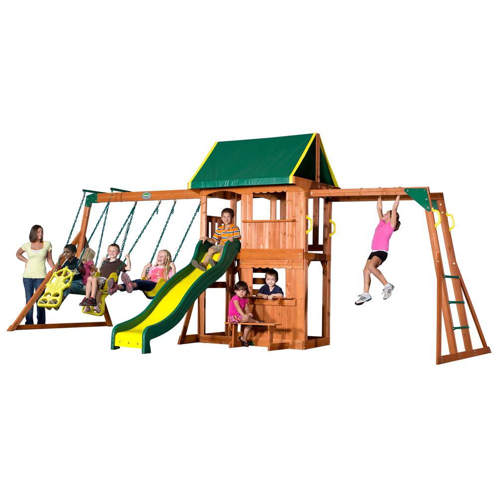 Backyard Discovery Prairie Ridge All Cedar Playset-55006com - The ...
