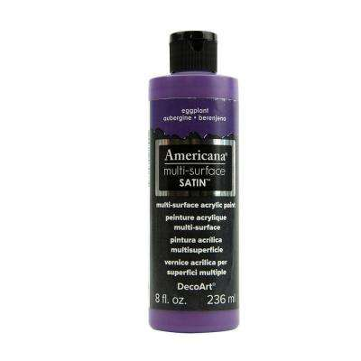 Americana 8 oz. Eggplant Satin Multi-Surface Acrylic Paint