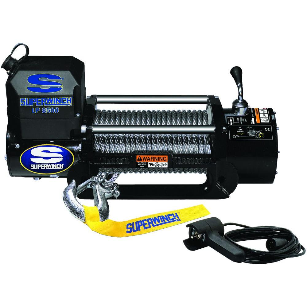 Superwinch Lp8500 12 Volt Dc Off Road Winch With Hawse Fairlead And T Max Remote Wiring Diagram Ft