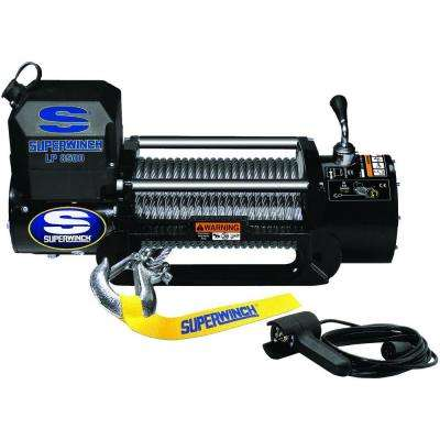 LP8500 12-Volt DC Off-Road Winch with Hawse Fairlead and 12 ft. Remote