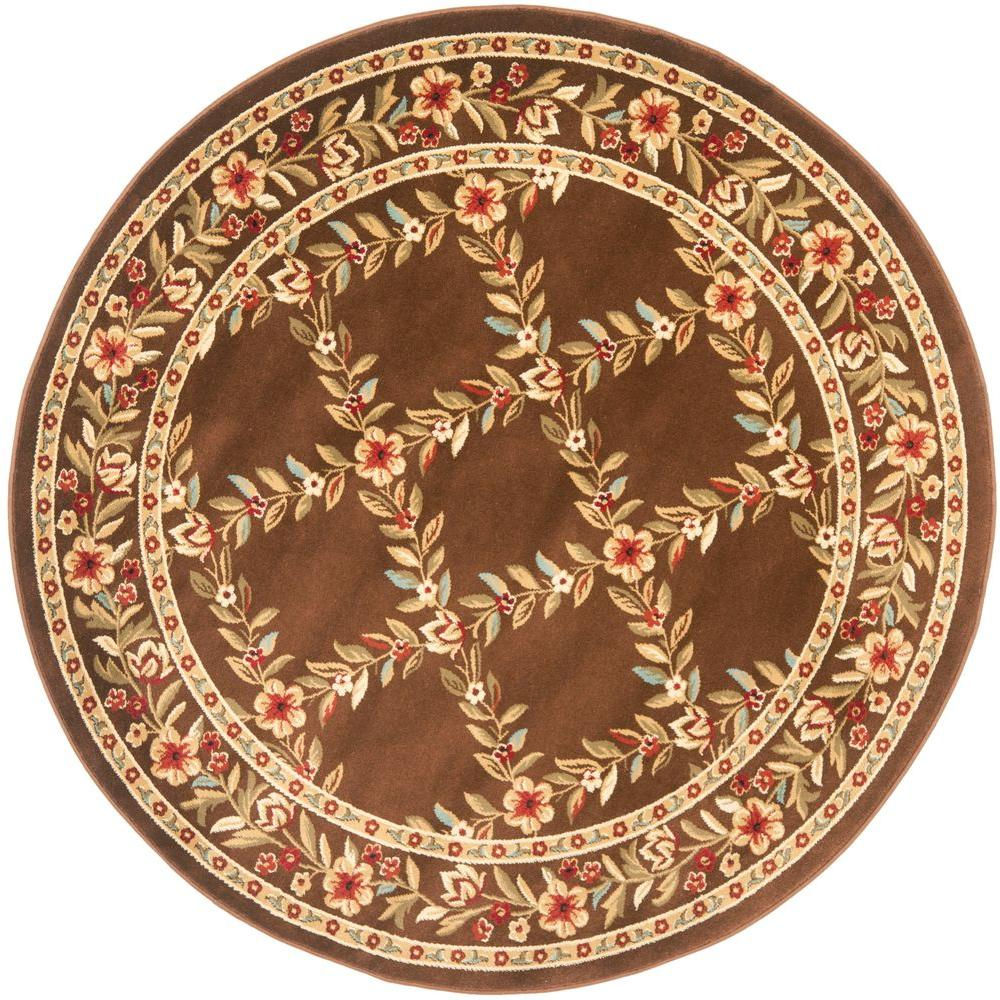 safavieh lyndhurst brown 5 ft 3 in x 5 ft 3 in round area rug lnh557 2525 5r the home depot. Black Bedroom Furniture Sets. Home Design Ideas