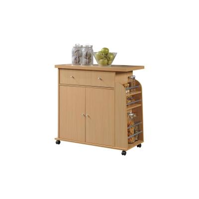 Kitchen Island Beech with Spice Rack