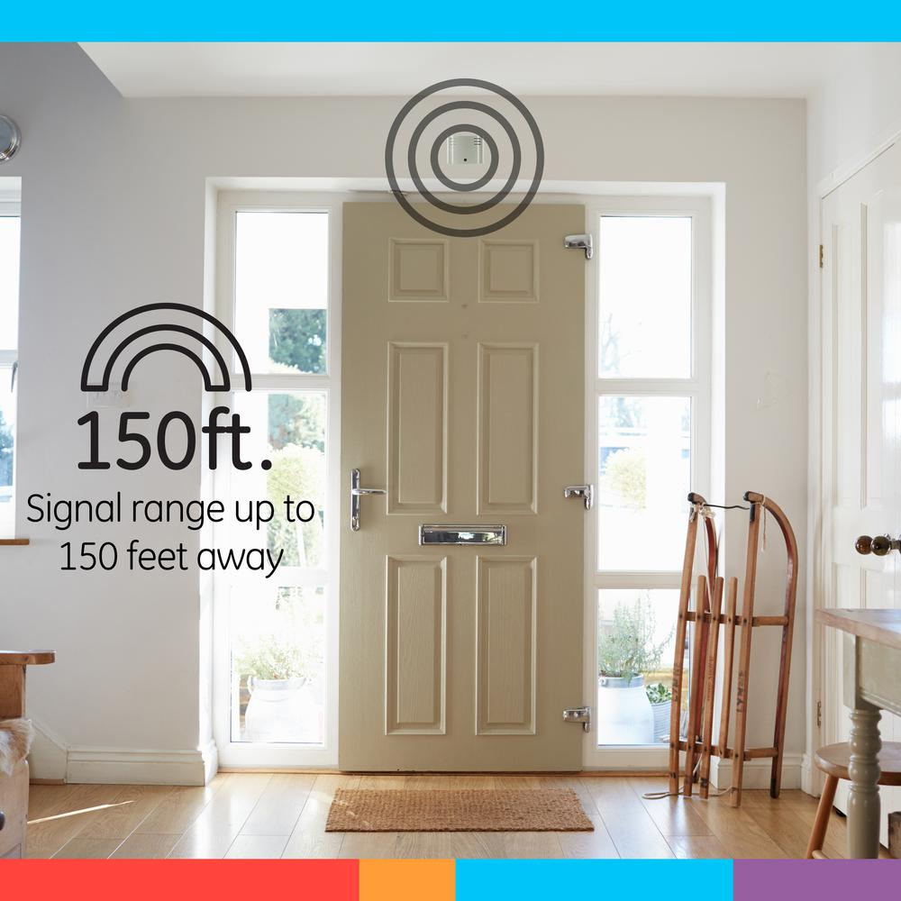 GE Wireless Doorbell Kit Battery-Operat 2 Push Buttons 1 Receiver 8 Melodies