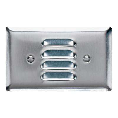 302 Series 1-Gang Horizontal Louver Wall Plate in Stainless Steel