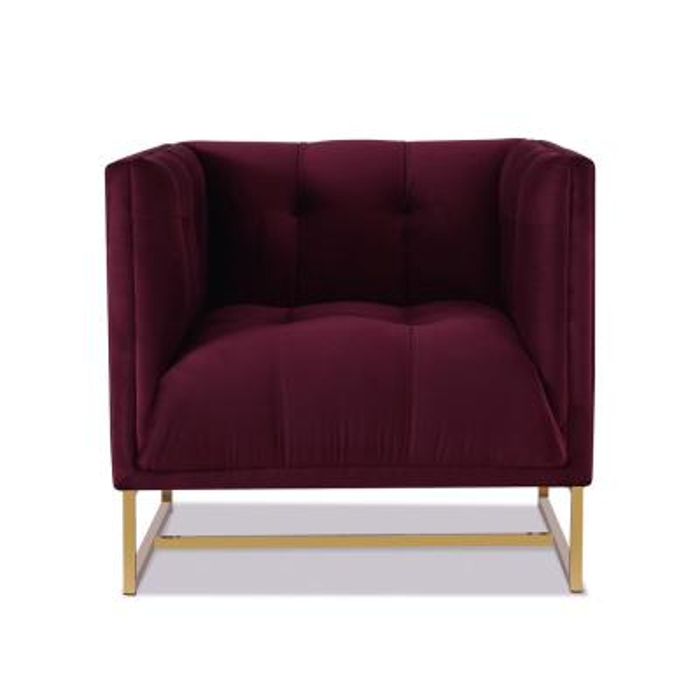 Royce Burgundy Accent Chair