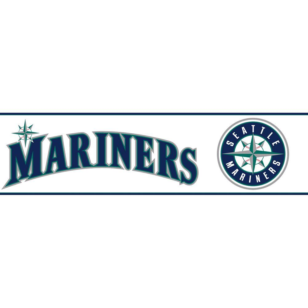 Major League Baseball Boys Will Be Boys II Seattle Mariners Wallpaper Border