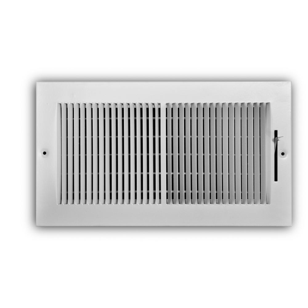 12 in. x 6 in. 2-Way Wall/Ceiling Register 1/3 in. Fin Spacing