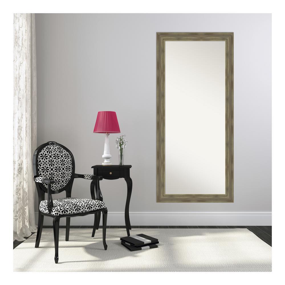 Alexandria Grey Wash Floor/Leaner Mirror