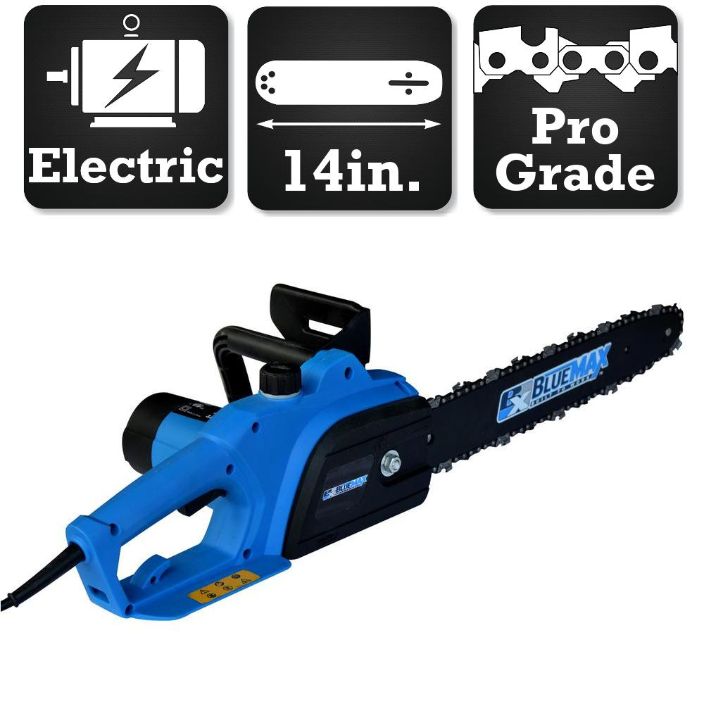 Blue max 14 in 8 amp electric chainsaw 7953 the home depot 8 amp electric chainsaw keyboard keysfo Choice Image
