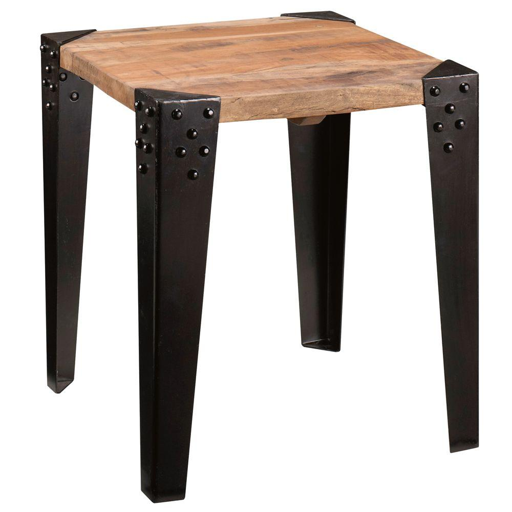 Home Decorators Collection Upton End Table in Reclaimed