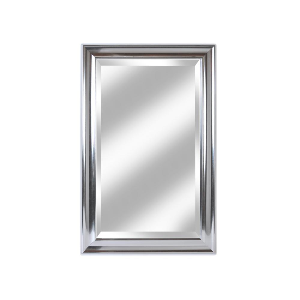 Concert 26.5 in. x 41.5 in. Silver Beveled Wardrobe Mirror