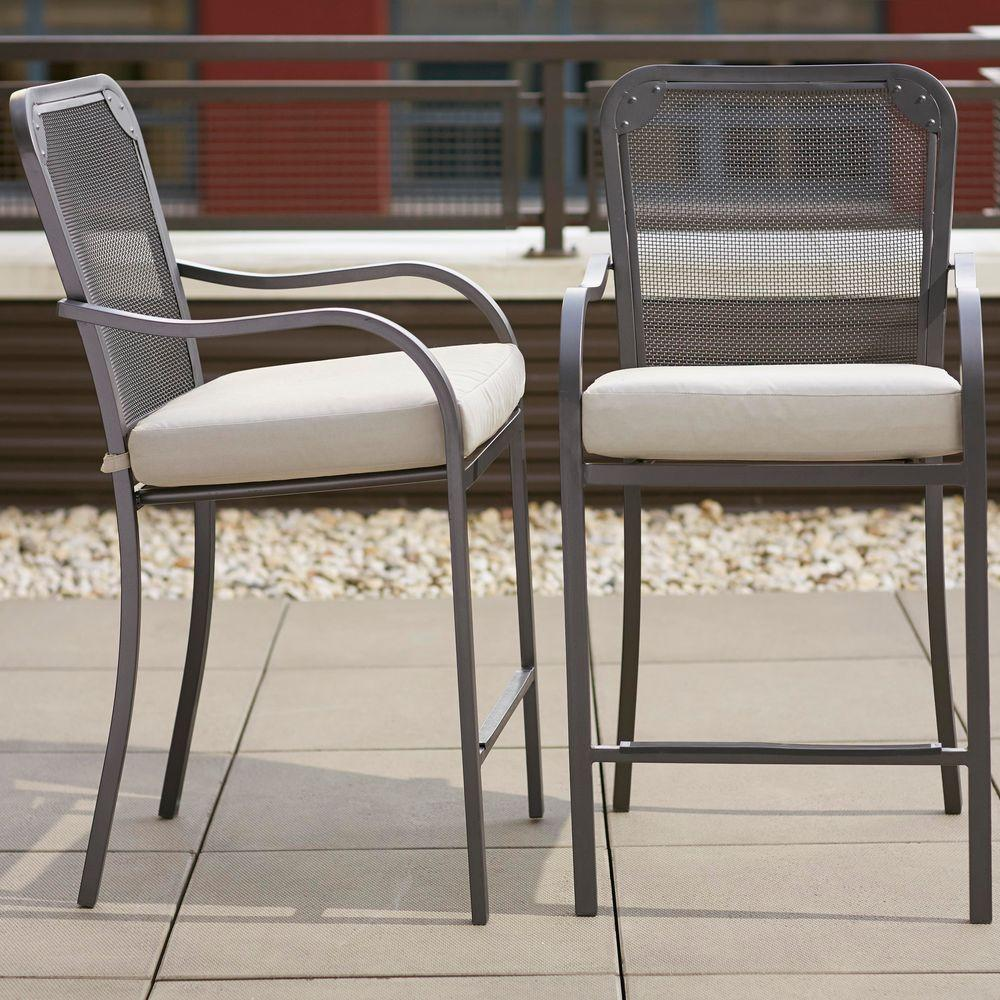 Hampton Bay Edington Swivel Patio High Dining Chairs Icamblog